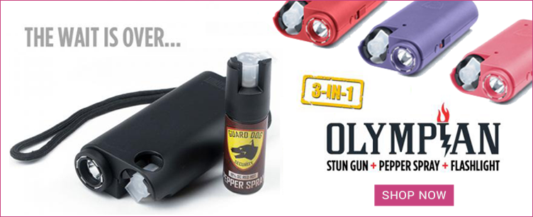 Guard Dog Olympian All-In-One Stun Gun, Pepper Spray & Flashlight