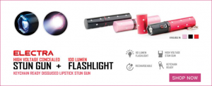 Stun Gun Flashlight / Self Defense Products For Women