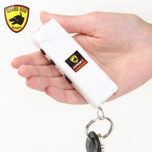 Rechargeable, compact, keychain stun gun w/ LED light