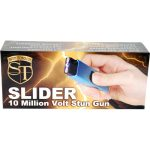Slider 10 million volt stun gun flashlight 4.9 milliamps Blue