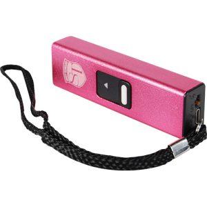 Slider 10 million volt stun gun flashlight 4.9 milliamps Pink