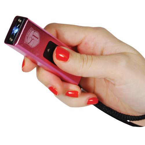 Slider 10 million volt stun gun flashlight 4.9 milliamps Pink