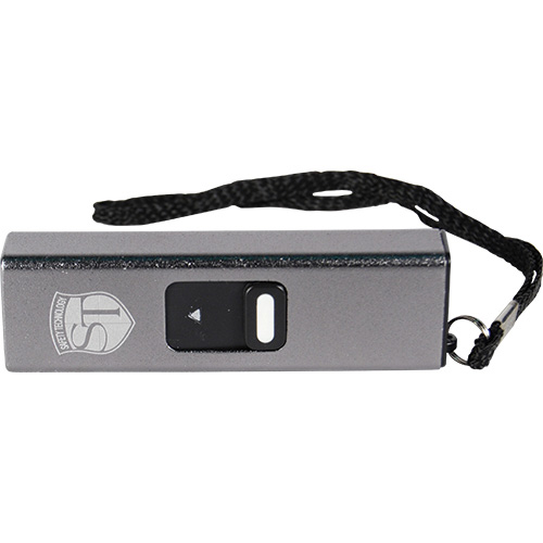 Slider 10 million volt stun gun flashlight 4.9 milliamps Silver