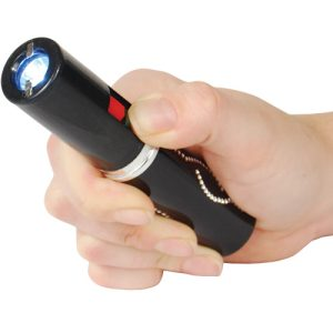 3,000,000 volt Lipstick Stun Gun with flashlight, Black