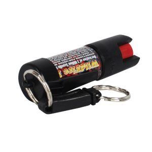 Wildfire 18% 1/2 oz Pepper Spray w/Quick Key Release Key Chain Black