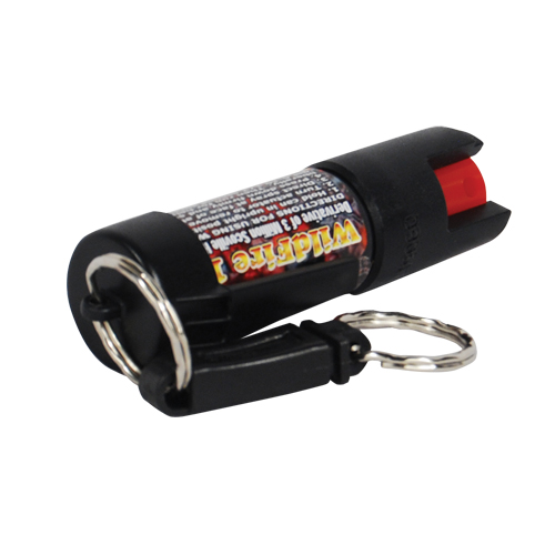 Wildfire 18% 1/2 oz Pepper Spray w/Quick Key Release Key Chain Black