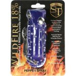 WildFire Pepper Spray And Rhinestone Leatherette Holster – Blue