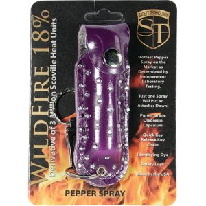 WildFire Pepper Spray And Rhinestone Leatherette Holster – Purple
