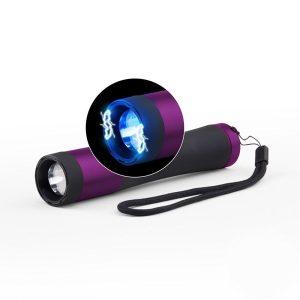 High voltage concealed stun gun w/ 200 lumen tactical flashlight