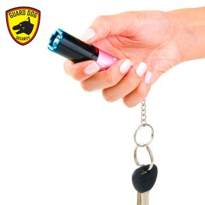 Concealed lipstick stun gun and soft case keychain pepper spray personal security gift set